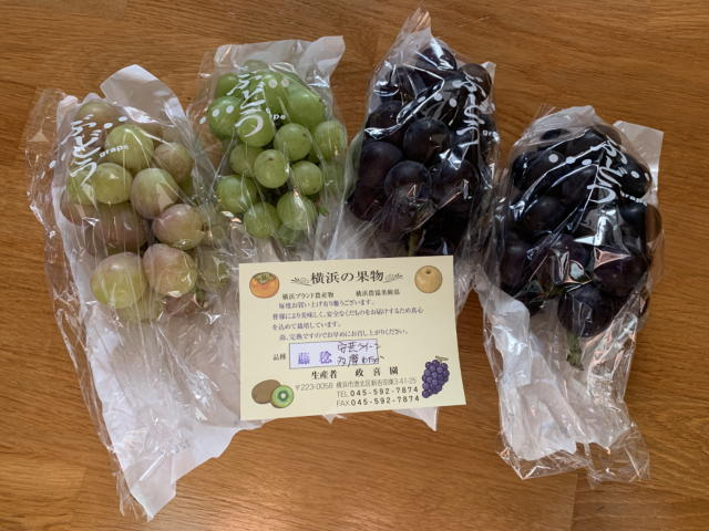 横浜の果物 ぶどう