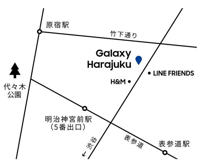 ギャラクシー原宿の地図