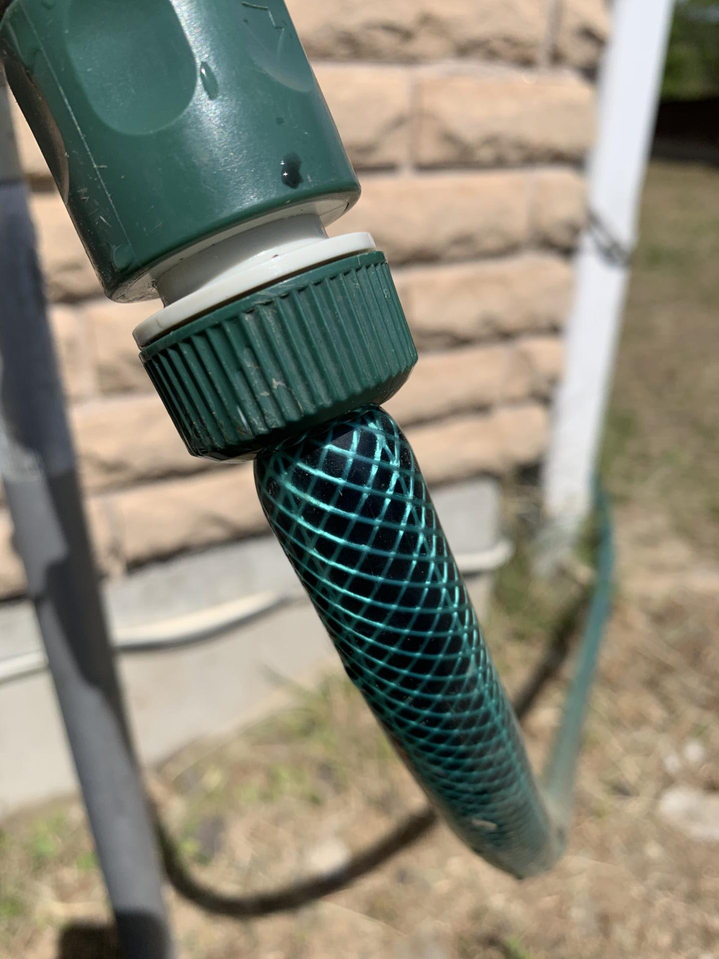 散水ホースのジョイント 水漏れ修理